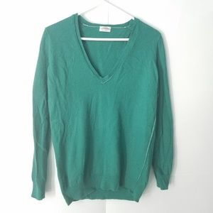 MADEWELL Wallace Green V-neck Sweater
